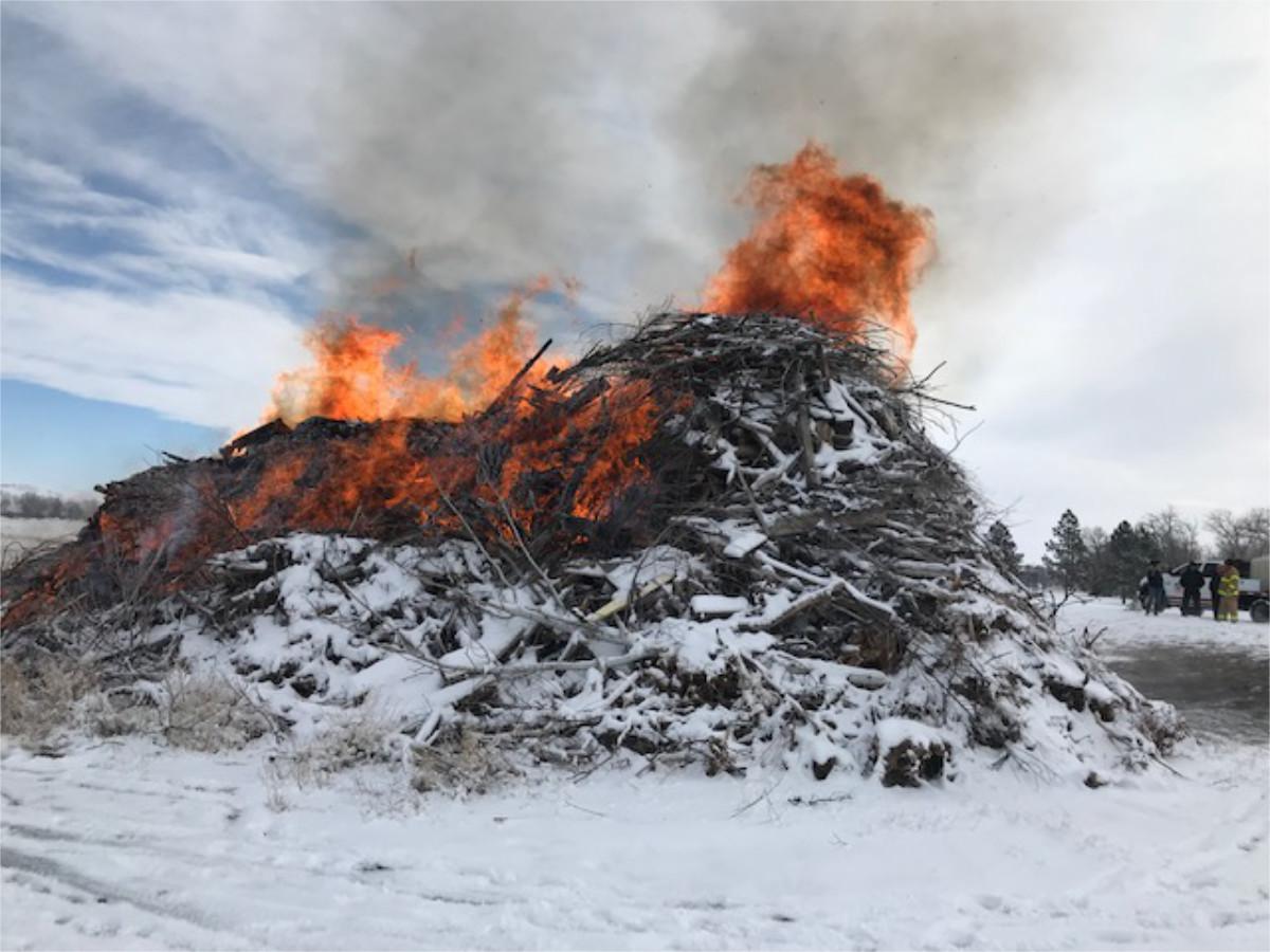 Controlled Brush Pile Burn