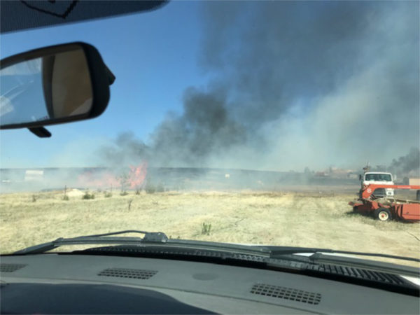 grass fire March 2019