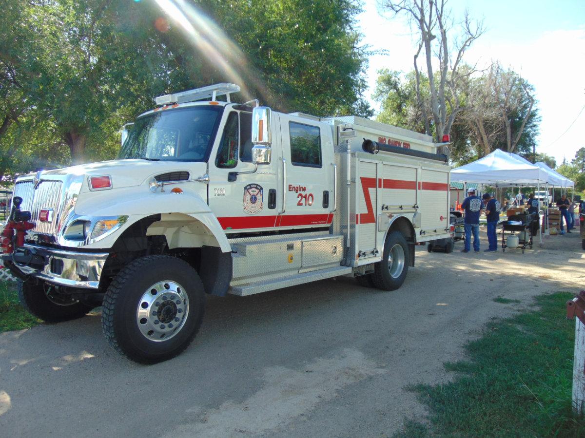 Engine 210 on scene at Labor Day BBQ
